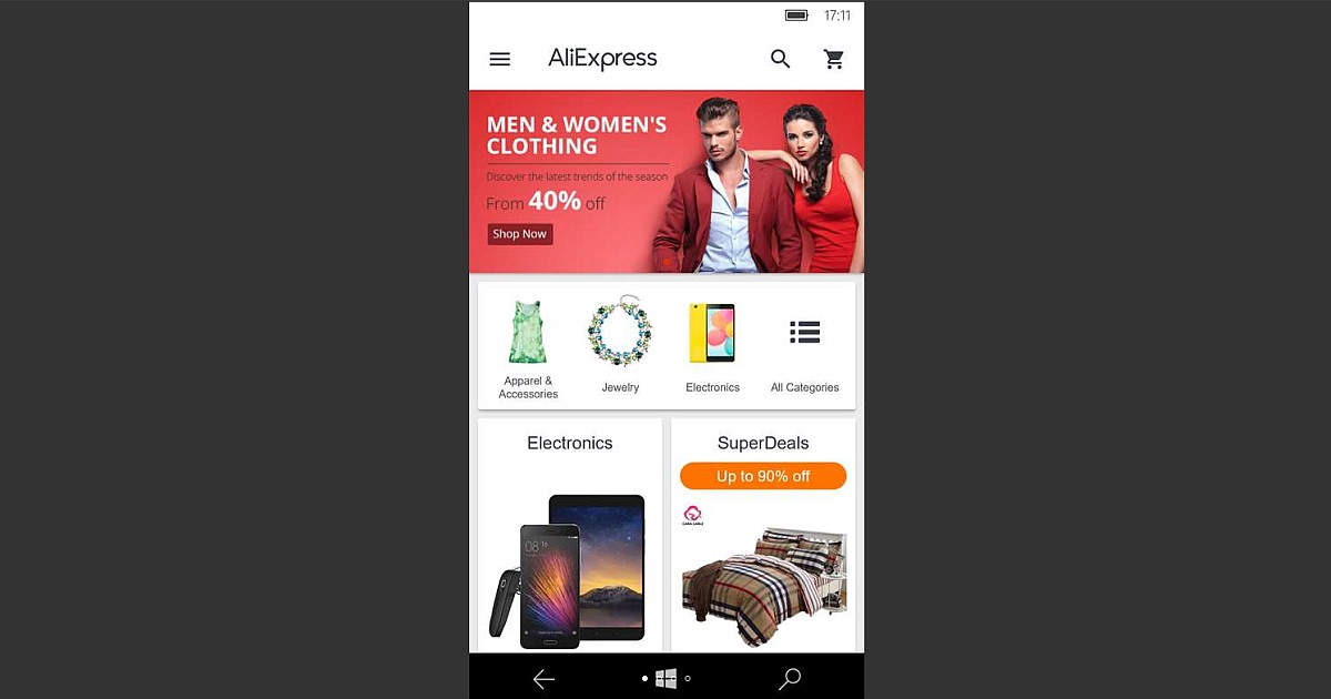 Download Aliexpress for Windows Phone